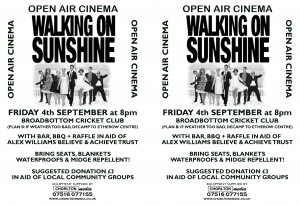 Walking on Sunshine A5 x 2 POSTER 2